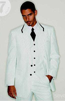 Seven - White with Black Stripe 527SX