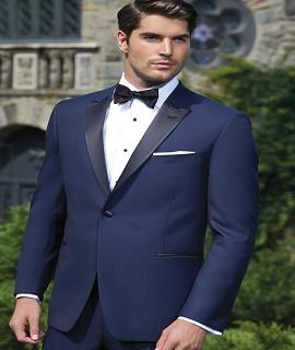 Ike Behar® Evening - Navy Blue 'Blake' Tuxedo