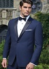 Ike Behar® Evening - Navy Blue 'Blake' Tuxedo