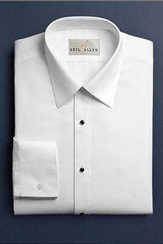 White Microfiber Laydown Collar