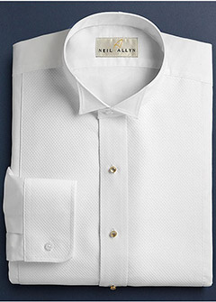 White Pique Wing Collar